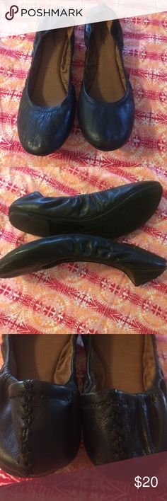Lucky flats EUC. Black leather upper Emmie style Lucky Brand Shoes Flats & Loafers