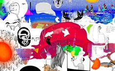 Sketch for a mural, by Ane Elene Johansen.