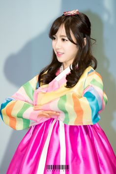 AOA MinAh in Korean Traditional Cloth 'Hanbok'