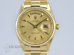 Used ROLEX Oyster Perpetual Day-Date 1803 yellow gold