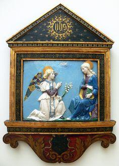 Luca De La Robia. Archangel Gavriil. Blagoveshenie.