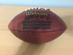 6a4a652f40 steelers  NFL game used wilson auth leather k  Football from  79.99