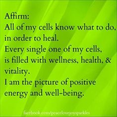 I am filled with abundance, down to every cell in my body. www.yolci.com