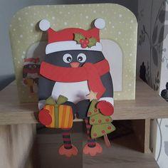on the Shelf Card Kit - Little Christmas Pip Penguin - Photo by Hayley… Plant Shelves, Hanging Shelves, Wooden Shelves, Little Christmas, Christmas Cards, Dining Room Shelves, Dining Rooms, Ladder Shelf Diy, Tree Shelf