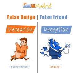False friends! :D #spanishschool #Madrid #studyspanish #vocabulario