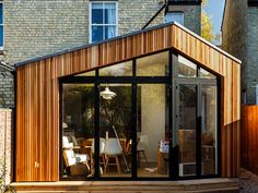 Looking for an attractive and sustainable timber cladding for your project? Our Western Red Cedar cladding has exceptional performance. Cedar Cladding House, Wood Cladding Exterior, Western Red Cedar Cladding, Larch Cladding, Wall Exterior, Facade House, Exterior Design, House Facades, House Extension Design