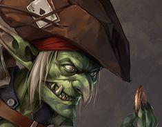 The Goblin pirate to the golden coin Character Concept, Character Art, Character Design, Dnd Characters, Fantasy Characters, Fictional Characters, Rp Ideas, Fantasy Artwork, Goblin
