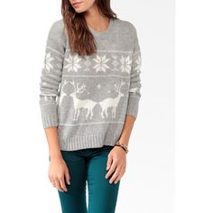 Forever21- relaxed fair isle sweater
