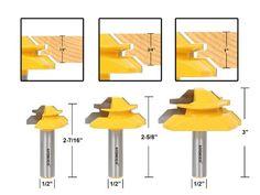 Yonico 15334 Lock Miter 45-Degree Glue Joint Router Bits 1/2-Inch Shank, Set of 3: Amazon.com.mx: Herramientas y Mejoras del Hogar