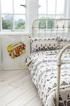 Point Stamp Double Duvet Cover at Urban Outfitters