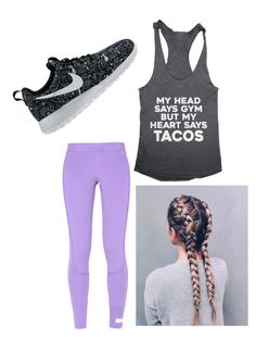 """Untitled #7"" by ballet11 on Polyvore featuring adidas and NIKE"