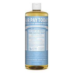 Dr. Bronner's Baby Unscented Pure-Castile Liquid Soap contains no fragrance and replaces it with double the olive oil, so it is great for people with allergies or sensitive skin. Of course, it is great for babies as well! All-One!