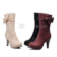 Women's Shoes Fashion Chunky Heel Ankle Boots More Colors available - USD $ 39.99