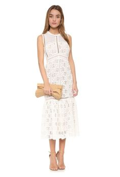 Rebecca Taylor Sleeveless Lace Crotchet Dress | Brides.com