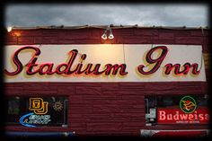 "Stadium Inn - 1701 E. Evans - Known as the ""old standby of the DU bars,"" the Stadium Inn has long been the University's favorite dive. Famous for its house $2 Jim Beam, it was established after World War 2 and named for the home turf of the school's now-defunct football team."