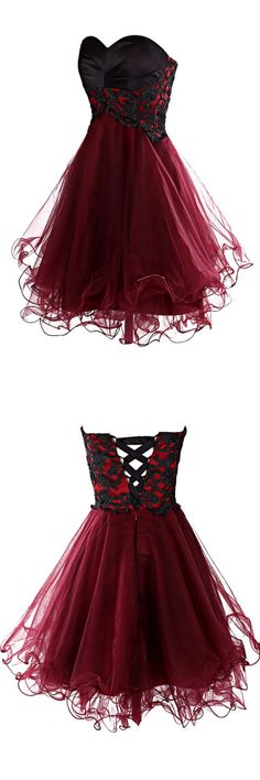 2016 homecoming dress,burgundy homecoming dress,mini homecoming dress,lovely homecoming dress,cute homecoming dress,homecoming dress with appliques,cocktail dress,burgundy cocktail dress,party dress,mini party dress