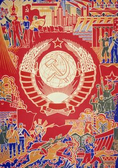"""35 Communist Propaganda Posters Illustrate The Art And Ideology Of Another Time -- Propaganda poster of the 70's by Boris Parmeev. """"We grow under the sun of our country."""""""