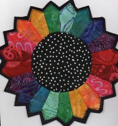 batik Dresden plate mug rug at The Old Craft Store (Texas)