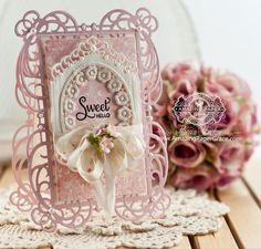 Card Making Ideas by Becca Feeken using Spellbinders Mystical Embrace and Divine Eloquence