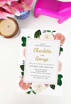 This classic rose wedding invitation by Sail and Swan Studio features blush pink roses, cream florals and other botanicals with classic, classy fonts. They are perfect for an outdoor wedding such as a garden, forest, beach or woodland wedding, but also have a modern look and feel that makes them versatile across the board for any classic, floral or botanical theme. Blush Roses, Pink Roses, Blush Pink, Wedding Color Schemes, Wedding Colors, Wedding Styles, Classy Fonts, Floral Invitation, Woodland Wedding