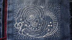 Detalle de patchwork. Imitando a Junko Oki. Amalia Cabeza