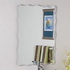 Gallery One Decor Wonderland Diamond In X In Oval Frameless Bathroom Mirror Ssm Bathroom mirrors Hardware and Apt ideas