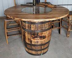 Whiskey barrel table | Etsy #barreltable,#reclaimedwoodcoffeetable,#winebarreltable,#whiskeybarreltable,#barrelendtable,#whiskeybarrelcoffeetable,#coffeetable,#barrelfurniture, #winebarrel,#winebarreltable, #whiskeybarreltable,#reclaimedwood Used Whiskey Barrels, Whiskey Barrel Coffee Table, Jack Daniels Whiskey Barrel, Whiskey Barrel Furniture, Wine Barrel Table, Bourbon Barrel, Wine Barrels, Wine Cellar, Spool Tables