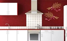 """Wheat Sheaf Stencil - (size 13""""w x 8""""h) Reusable Wall Stencils for Painting - Best Quality Vegetable Kitchen Stencil Ideas - Use on Walls, Floors, Fabrics, Glass, Wood, Terracotta, and More..."""