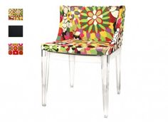 This is a fun bright and cozy place for mom's to recharge. Fiore Floral Accent Chair