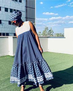 Fashion Tips Bags lovely shweshwe dresses of south african.Fashion Tips Bags lovely shweshwe dresses of south african Seshweshwe Dresses, African Wear Dresses, Latest African Fashion Dresses, African Print Fashion, African Attire, Africa Fashion, Elegant Dresses, Sotho Traditional Dresses, African Fashion Traditional