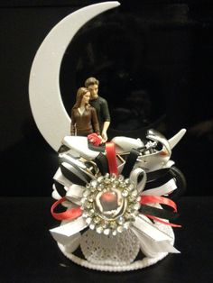 Homemade Twilight Edward And Bella Wedding Cake Topper Made From A Smoke