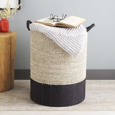 Color Block Tall Storage Basket | west elm