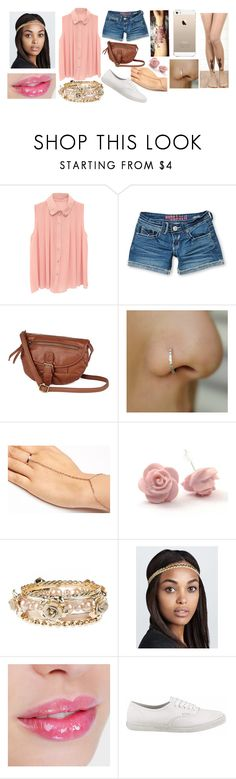 """""""Pink"""" by rocketsheep ❤ liked on Polyvore featuring Hydraulic, Jennifer Fisher, Deepa Gurnani, Vans, Pink, vans, rose, cat and iphone5"""