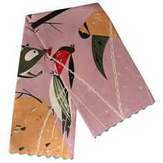 Charley Harper Birds Feeding Station Dishtowel by Todd Oldham