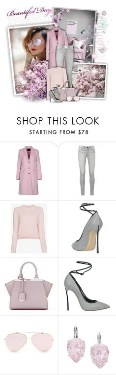 """""""Pink & Grey!"""" by asia-12 ❤ liked on Polyvore featuring Emporio Armani, Alexandra Golovanoff, Casadei, Fendi and L. Erickson"""
