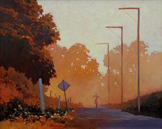 """Lynne Fearman """"Long Road Home"""" 16x20 Oil on Canvas"""
