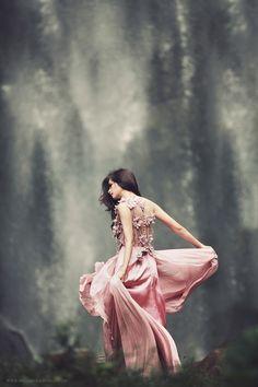 Dancing under the waterfalls by bwaworga.deviantart.com on @DeviantArt