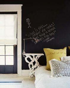 I'm really liking black walls lately. And this little quote...