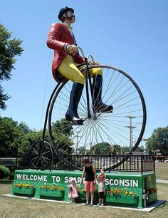 World's Largest Cyclist   Sparta, Wisconsin