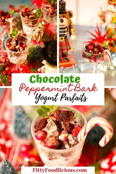 Have a last minute holiday gathering and are in need of a delectable dessert? Make my Chocolate Peppermint Bark Parfaits that are creamy, fruity, and chocolaty. The best combination for a spirited holiday gathering! #christmas #healthyrecipes #healthydesserts #desserts #holiday #healthyfood #chocolate #foodblogger #yogurtparfait