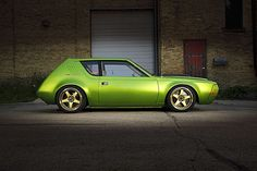 Mark Greenisen's 1974 Gremlin Is a Bright-Green, Cone-Killing Monster - Hot Rod Classic Hot Rod, Classic Cars, Gremlin Car, Dodge Charger Models, Jeep, Green Motorcycle, Amc Javelin, Lowered Trucks, American Motors