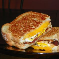 Breakfast Grilled Cheese Sandwich With Maple Syrup Recipes ...