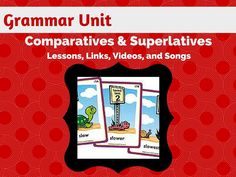 Teaching comparatives and superlatives? This is the perfect, unique unit that teaches comparatives and superlatives in an engaging way using images, photos, videos, and sentence building strategies that will truly improve your students' writing. These highly engaging sections, games, and activities will really help your students finally learn this tricky grammar point.
