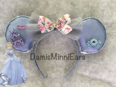 Disney Cinderella inspired minnie ears/mickey ears. Check more styles in my etsy store! DamisMinniEars