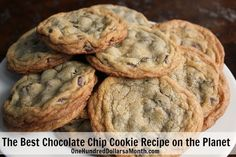 The Best Chocolate Chip Recipe on the Planet -  I FREEZE my cookie dough first. Yep. I think it's the key to getting the perfect outer crunch and a soft center to my cookies. So go ahead and whip up this dough, scoop it into dough balls and freeze it overnight {or for up to 3 months}. Then, when you are ready to bake some cookies, add an extra minute to the baking time. That's it. That's my cool trick to making the best chocolate chip cookies on the planet.