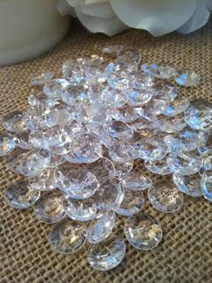 6 ct Acrylic Crystal Diamond Confetti Table Scatter (100pc)
