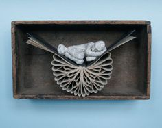 Sleeper in Antique Box (Original Sculpture)