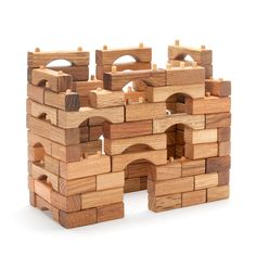 Interlocking Wooden Block Set In Building Blocks – Nova Natural Toys & Crafts