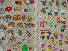 STICKERS!!!! I BIG PUFFY HEARTED THEM ALLLLLLL AND MY STICKER ALBUM!!!! Puffy, Hello Kitty, scratch-n-sniff, Cathy, googly eyed, glow in the dark, Ziggy, liquidy-color changing, Hallmark, Fuzzy, Ms Grossmans, Garbage Pail Kids...