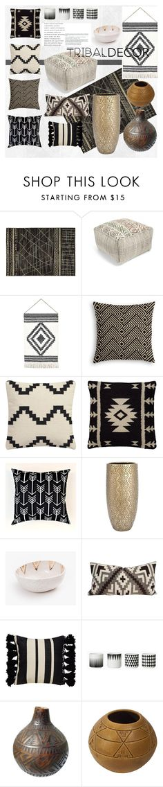 """Tribal Decor"" by stefelyr ❤ liked on Polyvore featuring interior, interiors, interior design, home, home decor, interior decorating, Stylehaven, Nordstrom, CB2 and Rizzy Home"